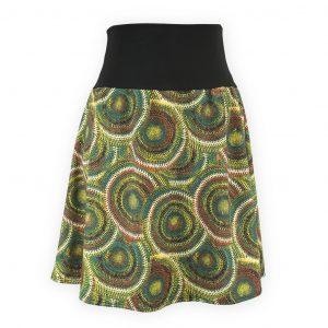 Falda cintura elástica Retro Verde