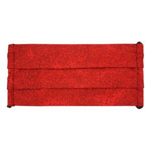 Mascarilla Rojo intenso hojitas