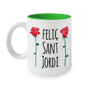 Taza Feliç Sant Jordi - Roses