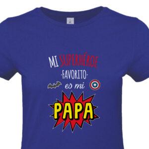 Camiseta mi Superhéroe Favorito es mi Papa