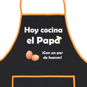 Delantal Papa con un par de Huevos