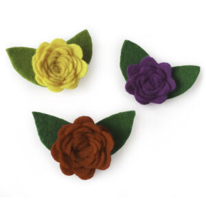 Broche Rosa de fieltro (3 colors)