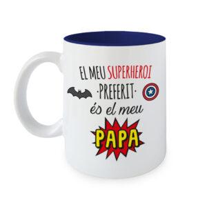 Taza Mi Superhéroe favorito es mi Papa