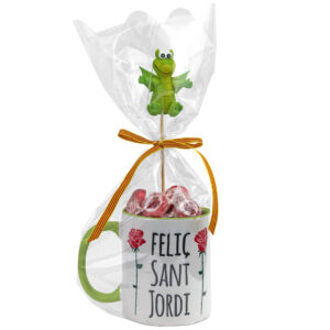 Tassa + Bombons   Feliç Sant Jordi - Drac (3 colors)