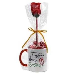 Tassa + Bombons   T'estimo Amor - Rosa de Sant Jordi (3 colors)