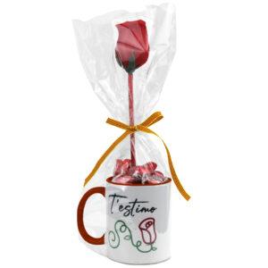 Tassa + Bombons   T'estimo - Rosa de Sant Jordi (3 colors)