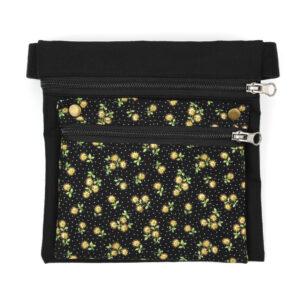 Riñonera impermeable - Negra Flor mini