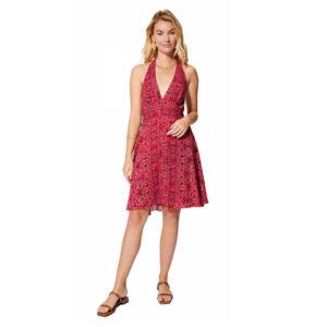 Vestido Boho Corto Rosa