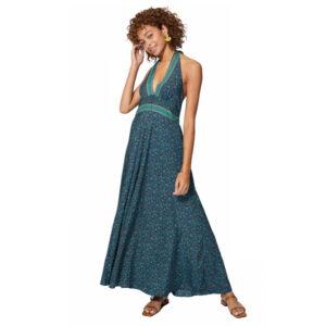 Vestido Boho Largo Azul flor mini