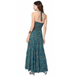 Vestido Boho Largo Azul