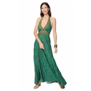 Vestido Boho Largo Verde