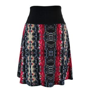 Falda elástica midi Sabana Rubí