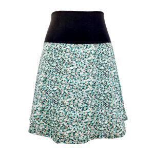 Falda elástica midi Triángulos Verde