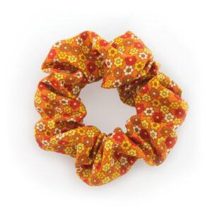 Coletero Scrunchie - Naranja Flor Mini