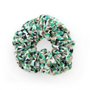 Coletero Scrunchie - Triángulos Verde