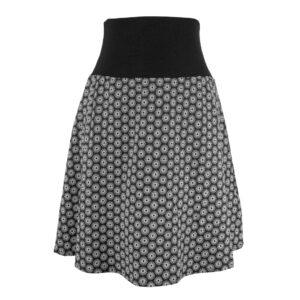 Falda elástica midi Negra Soles