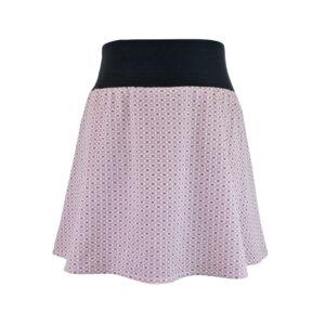 Falda elástica corta Rosa Florecitas