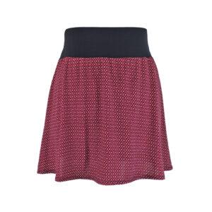 Falda elástica corta Roja