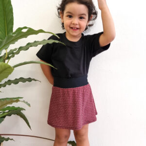 Falda infantil Roja