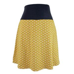 Falda elástica midi Mostaza Soles