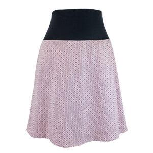 Falda elástica midi Rosa Florecitas