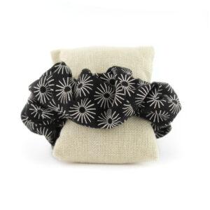 Coletero Scrunchie - Negro Soles