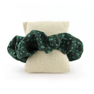 Coletero Scrunchie - Verde gotas