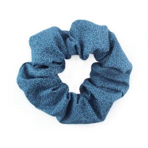 Coletero Scrunchie - Azul puntitos